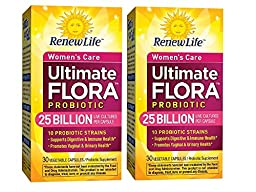 Ultimate Flora Women\'s Care Probiotic Supplement Vegetable Capsules - 2 boxes of 30 caps