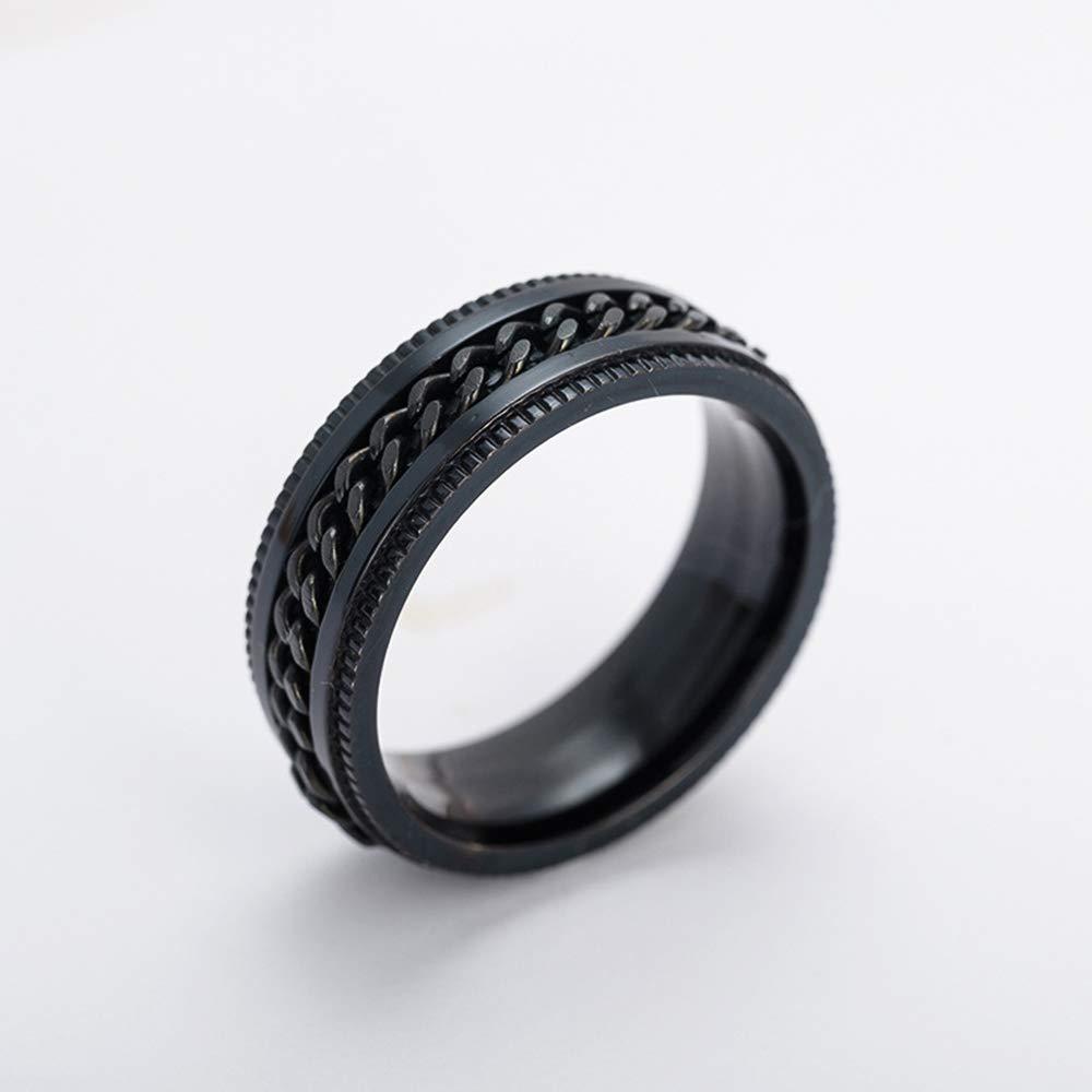 Utile et Pratique 10 1 bague PCS unisexe en titane noir cadeaux pour hommes et femmes bague en acier inoxydable estamp/ée pour hommes