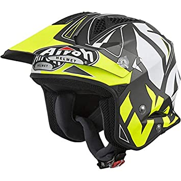 Airoh casco de Moto Jet Trial Off Road trr S M Convert Yellow Matt