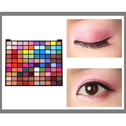 100 Colors Big Eye Shadow Palettes Colorful Glitter Shimmer Metallic Pigmented Powder Matte EyeShadows Palette for Brown Eyes Makeup Waterproof Blendable Cosmetic