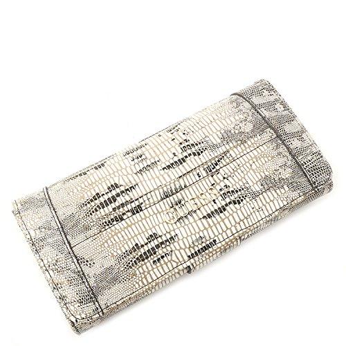 GUESS Delaney Snake-Embossed File Clutch Wallet
