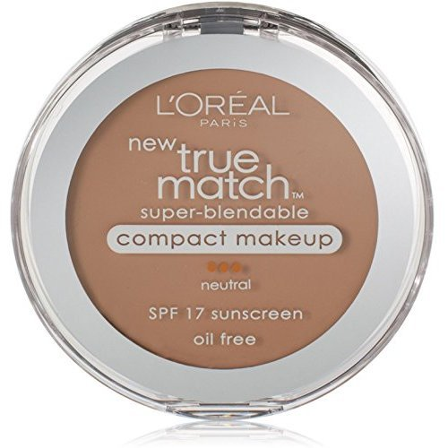- L'Oreal True Match Super-Blendable Compact Makeup, Honey Beige [N6], 0.30 oz (Pack of 2)