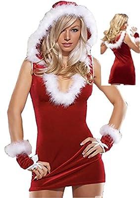 Sexy Red Santa's Helper Halloween Clubwear