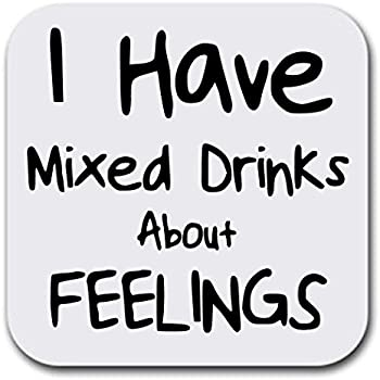 Funny Drinking Quotes - Mixed Drinks - Coaster Set of Six - Joke Humor Gift  Coasters for Drinks - Absorbent | Furniture Safe - Set of six (6 pcs) - ...