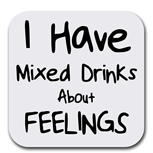 Funny Drinking Quotes - Mixed Drinks - Coaster Set of Six - Joke Humor Gift Coasters for Drinks - Absorbent | Furniture Safe - Set of six (6 pcs) - Gifts Home Office - Quality Neoprene 3.5x 3.5