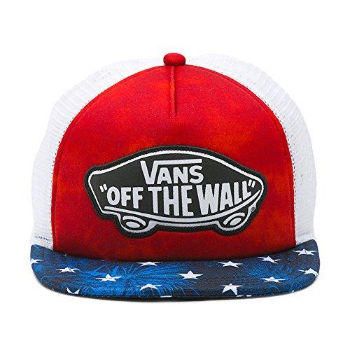 (Vans Women's Beach Girl Trucker Hat Cap - American Flag)