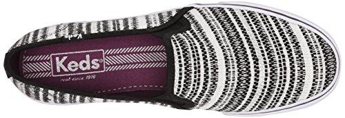 Sneaker Slip On Sneaker A Righe Arcobaleno Intrecciata Da Donna A Doppio Strato Keds