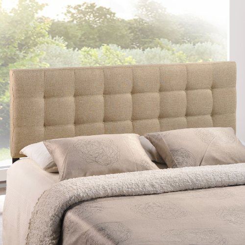 Modway Lily Upholstered Tufted Linen Fabric Queen Headboard Size In Beige by Modway (Image #2)
