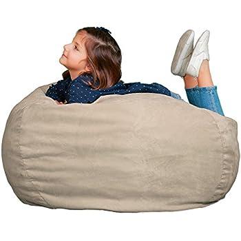 Amazon Com Kids Bean Bag Chair Premium Cozy Foam Filled