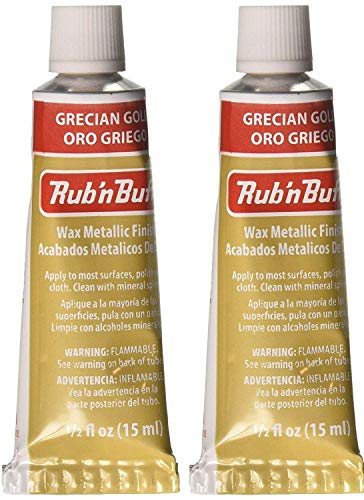 Metallic Buff Finish - Rub 'n Buff The Original Wax Metallic Finish (Grecian Gold) 2 pcs sku# 1835755MA