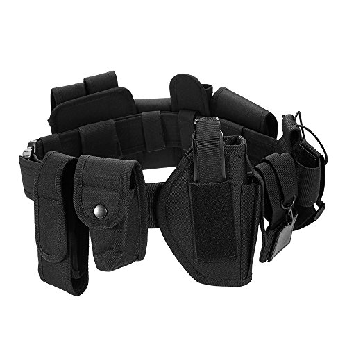 Lixada Modular Duty Belt Police Security Law Enforcement Tactical Equipment System Utility Belt  with Pistol/Gun - Modular Pistol Holster