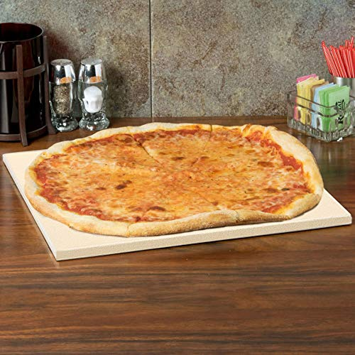 Pizza stone distributes heat for optimal pizza cooking