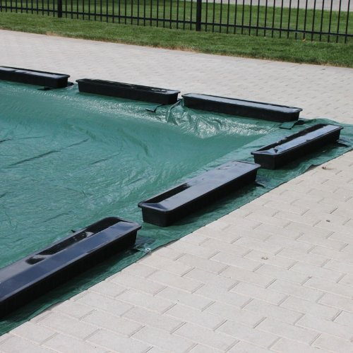 Ig Pool Covers (Swimline Aqua Blocks Pool Cover Weights for In Ground Pool Covers - 12 Pack)