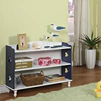 30 Bookcase Finish: Navy / White