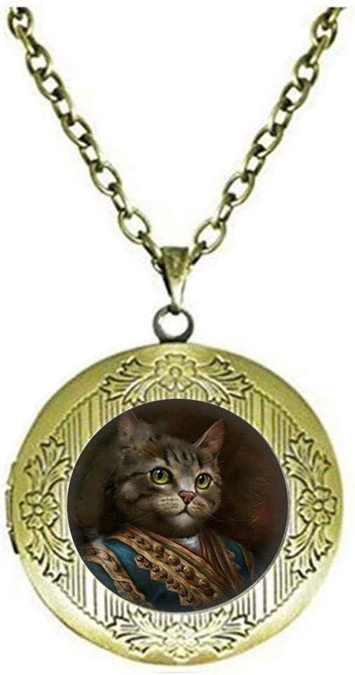 Collar con medallón de gato Steampunk, joyería para gatos, collar ...