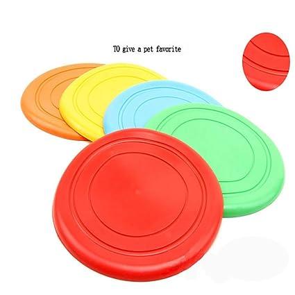 5 Pack perro Frisbee 7 pulgadas, PET Frisbee entrenamiento ...