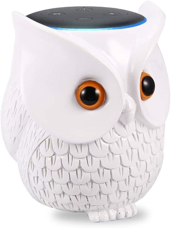 Owl Holder Stand, Statue Smart Speaker Holder Stand for 3rd Generation, Cartoon Decor Owl Shape Home Decor