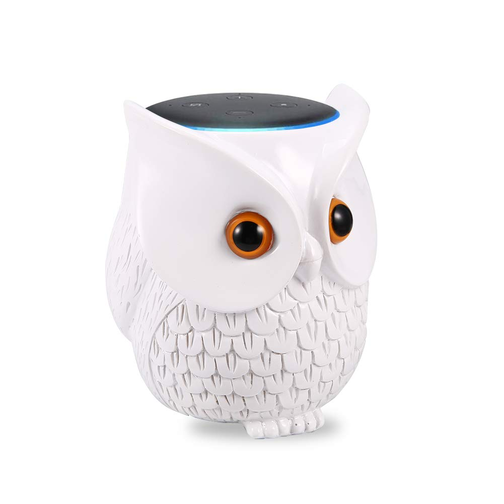 Sangdo Echo Dot Case,Owl Table Holder for Echo Dot 3rd Generation,for Smart Home Speaker,Improve Sound Visibility and Appearance,Dot Accessories