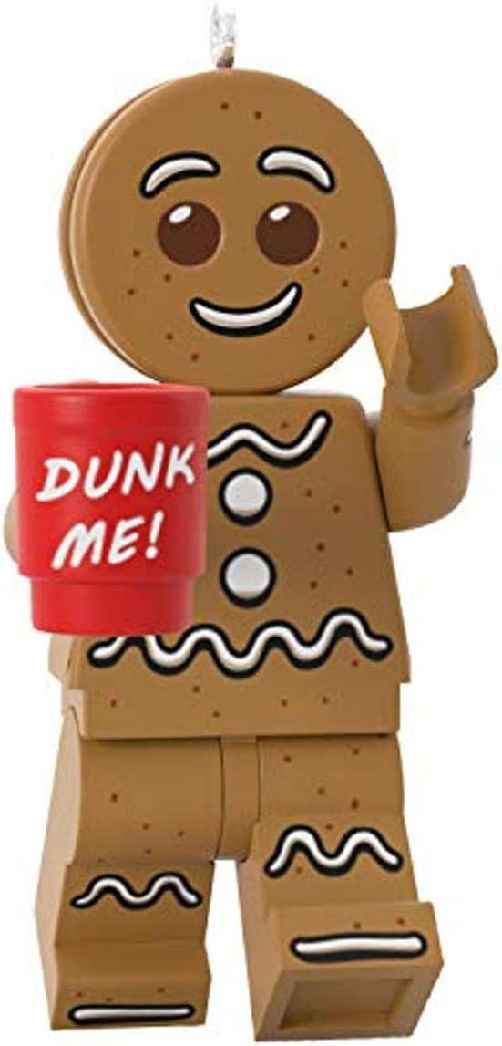 Hallmark Keepsake Christmas Ornament 2020, LEGO Gingerbread Man Minifigure
