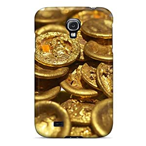 New Chinese Gold Coins Tpu Case Cover, Anti-scratch DXcentral Phone Case For Galaxy S4