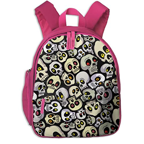 XIANGXIANG SHOP Halloween Skull Pattern Children's Kid's Backpacks Full-Print Fashion Shoulder Bag (with -
