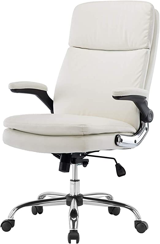 KERMS High Back Bonded Leather High-Quality Office Chair - Quick Assembly