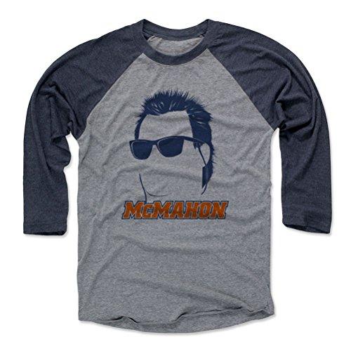 Jim Mcmahon Football - 500 LEVEL Jim McMahon Baseball Tee Shirt X-Large Navy/Heather Gray - Vintage Chicago Football Raglan Shirt - Jim McMahon Silhouette B