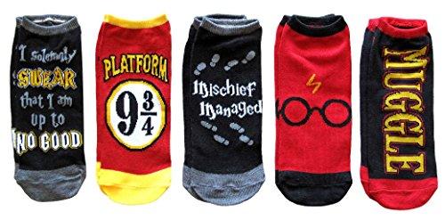 Harry Potter 5 Pack Ankle Socks