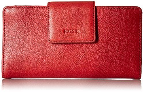 EMMA RFID TAB CLUTCH RED VELVET Wallet, RED VELVET, One Size
