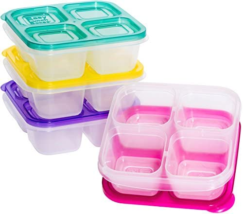 EasyLunchboxes ELB5 snack Containers 4 Compartment Brights product image