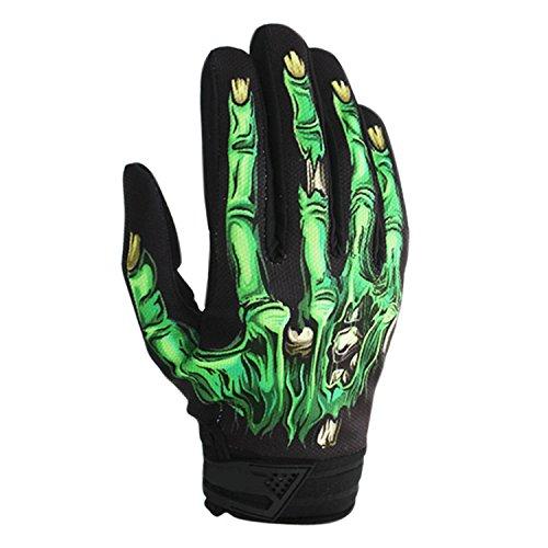 BPX Winter Gloves Cycling Motorcycle Full Finger Skeleton Ski Gloves Green XL