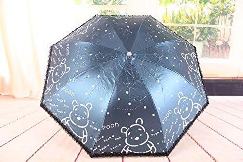 Cute Bear Ultralight Windproof Sun Rain Folding Umbrella