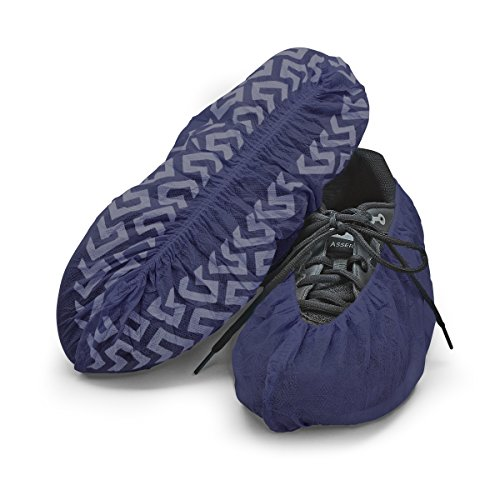 Disposable Boot & Shoe Covers 120 Pack (Size 11 or less, Dark Blue) ()