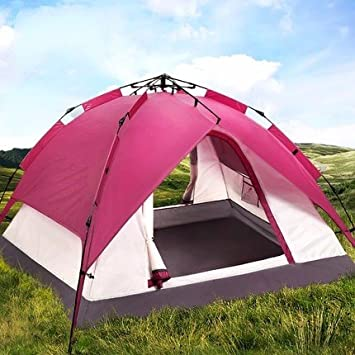 ZHUDJ Tent Outdoor, 3-4 Person Automatic Camping, Double 2 Tent Suit ... f9c94b546752