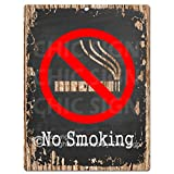 No Smoking Chic Sign Rustic Vintage Chalkboard style Retro Kitchen Bar Pub Coffee Shop Wall Decor 9''x12'' Metal Plate Sign Home Store Decor Plaques