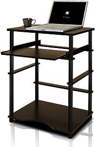 Furinno Home Computer Desk, Espresso/Black