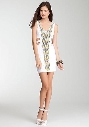 4f2871de3b BB Studded Cutout Bodycon Dress -Bebe Addiction Spcl Events/eve Dresses  White-s