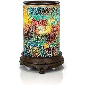 VP Home Mosaic Glass Fragrance Warmer (Polychromatic)