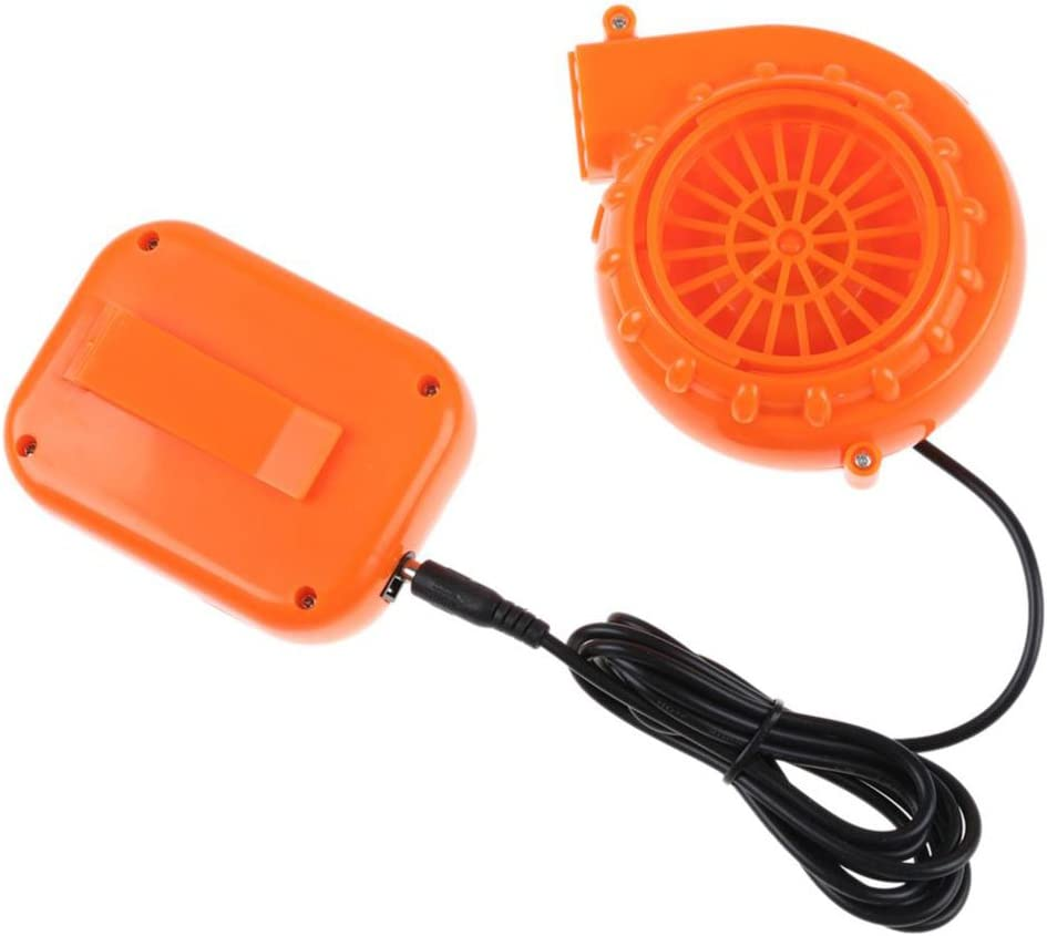Automarketbiz Mini Fan Blower for Mascot Head Inflatable Costume 6V Powered by Dry Battery (Orange)