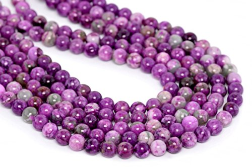- Top Quality Natural Purple Sugilite Crystal Gemstone 8mm Round Loose Gems Stone Beads 15 Inch for Jewelry Craft Making GF2-8