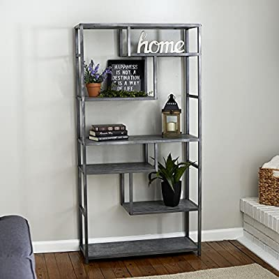 Household Essentials 8091-1 Slate Faux Concrete Sofa Table   Console Table for Entryway