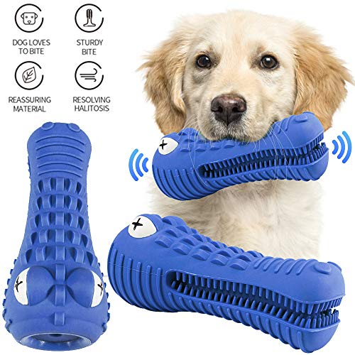 RexSoul Dog Chew Toys, Rubber Dog Toy for Aggressive Chewers Large Breed Medium Dogs Indestructible Dog Teeth Cleaning…