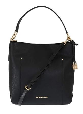 1af63cbc09a1 Michael Kors Black Hayes Leather Bucket Shoulder Bag  Handbags ...