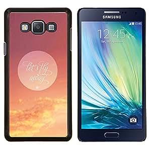 TECHCASE---Cubierta de la caja de protección para la piel dura ** Samsung Galaxy A7 ( A7000 ) ** --Vamos a volar Luna