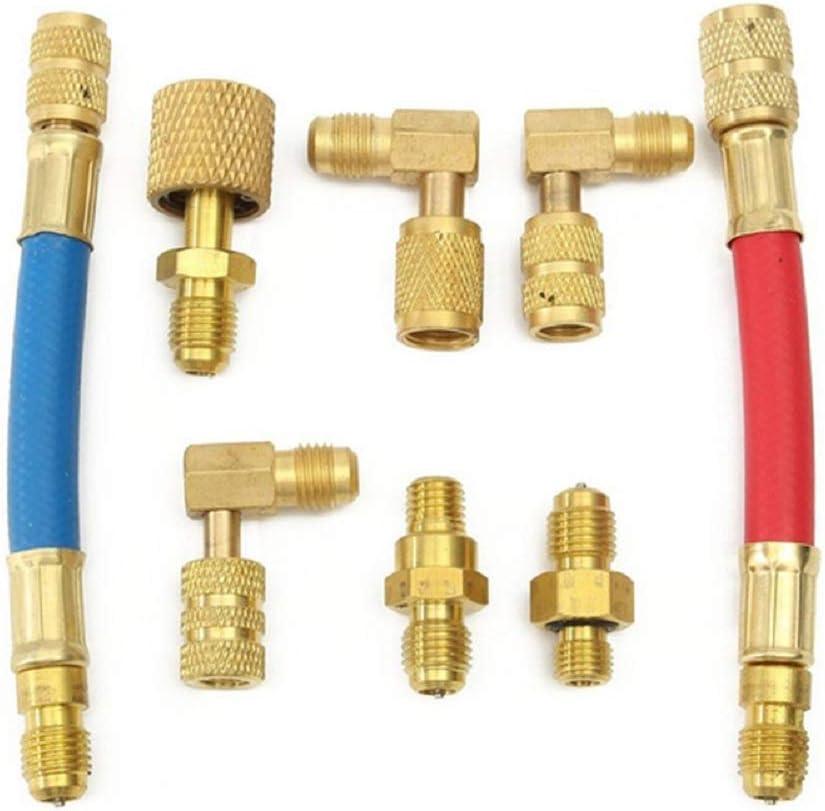 "A//C Vacuum Pump Hose Adapter Set,Converts 1//4/"" SAE /& 1//2/"" ACME R12 to R134a"