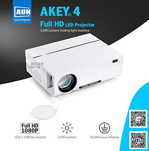 Full HD proyector akey4. 1920 * 1080, 3,600 lumens LED proyector ...