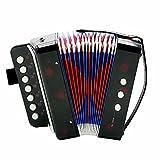EDTara Kids Accordion,7-Key 2 Bass Mini Small Accordion Toy Early Educational Musical Instrument Rhythm Band Toy