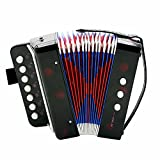 ammoon Kids Children 7-Key 2 Bass Mini Small Accordion Educational Musical Instrument Rhythm Band Toy