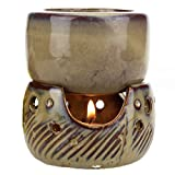 FunnyToday365 Thai Style Retro Split Multipurpose Aroma Burner Oil Candle Incensory Hotel Spa Aromatherapy Lamp