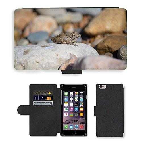 "Just Phone Cases PU Leather Flip Custodia Protettiva Case Cover per // M00128507 Frog Amphibien Nature // Apple iPhone 6 PLUS 5.5"""